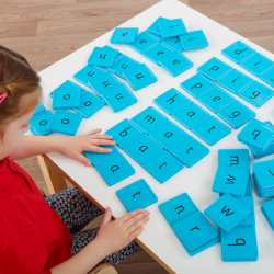 Tuiles magnétiques à numéros, lettres et syllabes
