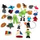 Collection d'objets de l'alphabet