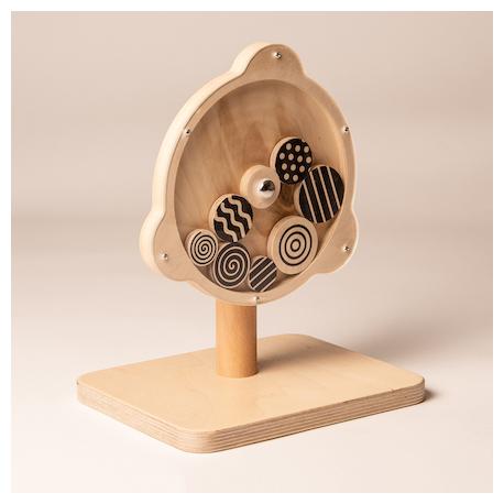 Spirales sensorielles tournantes roue noire et blanche