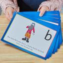 Cartes d'enrichissement linguistique avec personnages à allitérations