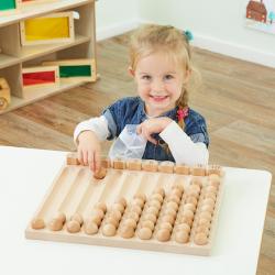 Tableau de collecte des nombres en bois