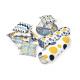 Ensemble de coussins à motifs mixtes moutarde et gris