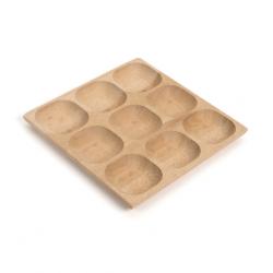 Bac de tri en bois naturel