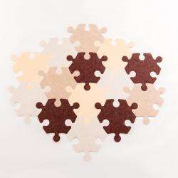 Tapis puzzle naturel