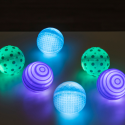 Sphères lumineuses tactiles