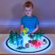 Personnages en acrylique3D pour panneau lumineux