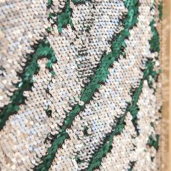 Longue planche de marquage à sequins Argentée