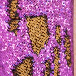 Longue planche de marquage à sequins Violette