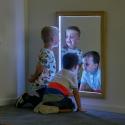 Miroir rectangulaire lumineux