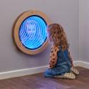 Miroir infini circulaire lumineux