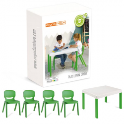 Pack mobilier enfants Ergos 1 table 4 chaises