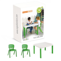 Pack mobilier enfants Ergos 1 table 2 chaises