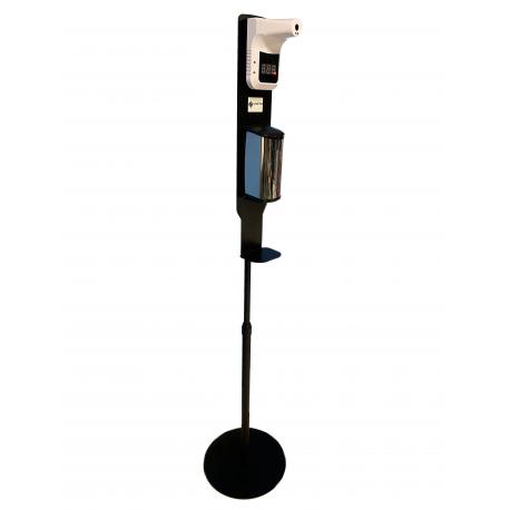 Borne Autonome , Mobile pour la prise de temperature et la distribution de gel