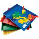 Bacs d'art colorés 8 pièces