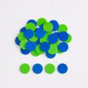 Paquet de 200 compteurs à deux couleurs vert et bleu