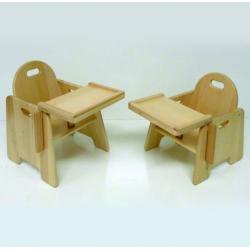 Chaise d'alimentation en bois pour bébés 40 cm 4 pièces