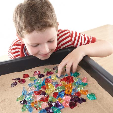 Pierres acryliques de couleurs vives