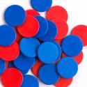 Paquet de 200 compteurs à deux couleurs rouge et bleu