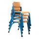 Chaise Copenhagen assise 380 mm bleu