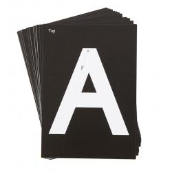 Encarts pour mini tableau lumineux (26 lettres capitales)