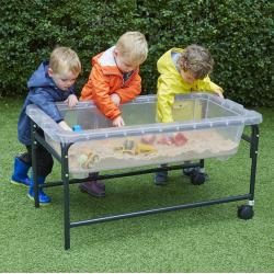 Tables de jeu de sable et d'eau translucide hauteur 40 cm pack de 2