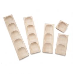 Ensemble de plateaux en bois 1,2,3,4,5