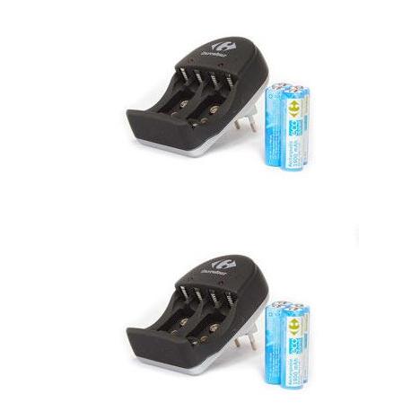 Chargeur 4 piles AA, incluant 4 piles AA 1800 mah