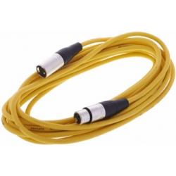 Câble micro XLR Femelle vers XLR mâle (jaune) 6m