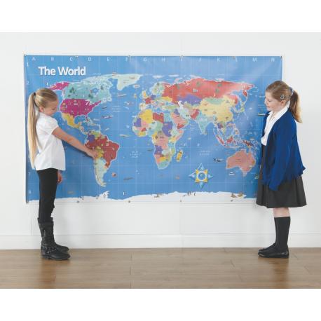 Bee-bot tapis carte du monde
