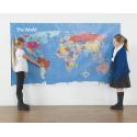 Beebot / Bluebot Tapis Carte du Monde 120 x 210 cm