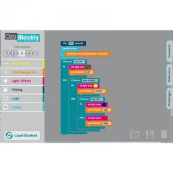 Ressources logiciel OZOBOT pour tablettes IOS et Android associées à deux robots OZOBOT BIT