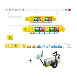 Ressources logiciel Lego Wedo 2.0 pour tablettes Windows, Android et IOS associées à un kit lego wedo 2.0