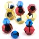 Rochers métalliques colorés