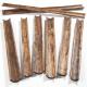 Gouttières en bois naturel