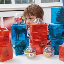 Cubes ouvrables de construction en plastique