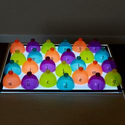 Dômes à classer pour panneau lumineux (Dômes alphabétiques à classer, 26 pièces)