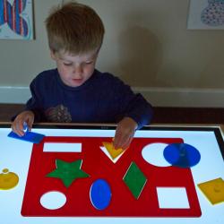 Tableau de formes à classer en acrylique pour panneau lumineux