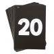 Encarts pour mini tableau lumineux (Nombres de 1 à 20)