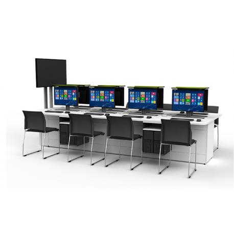 Table de bureau pour 5 ordinateurs zioxi M1