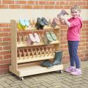 Range bottes d'extérieur en bois