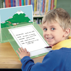 Pupitre incliné pour lecture avec porte livre