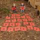 Tapis alphabet d'extérieur
