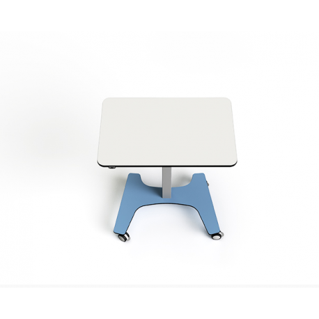 Table collaborative rectangulaire ajustable en hauteur rechargeable Zioxi