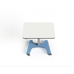 Table collaborative rectangulaire ajustable en hauteur sur secteur Zioxi