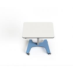 Table collaborative rectangulaire ajustable en hauteur sur secteur Zioxi