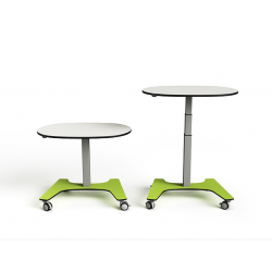 Table collaborative en galet ajustable en hauteur rechargeable Zioxi