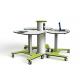 Table collaborative en galet ajustable en hauteur sur secteur Zioxi