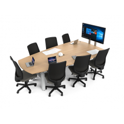 Table collaborative ajustable pour 7 personnes Zioxi