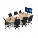 Table collaborative ajustable pour 7 personnes Zioxi