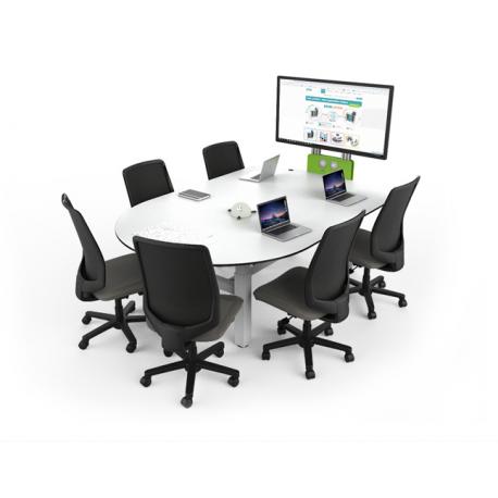 Table collaborative ajustable pour 6 personnes Zioxi